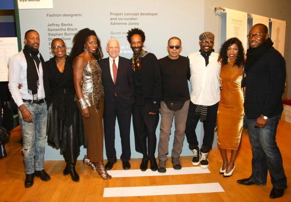 NEW YORK, NY - FEBRUARY 06: Black Dress Designers LaQuan Smith, Donna Dove, Professor Adrienne Jones, President Pratt Institu