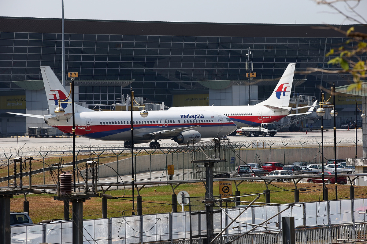 Malaysia Airline passenger jets are shown parked on the tarmac at the Kuala Lumpur International Airport on March 8, 2014 in