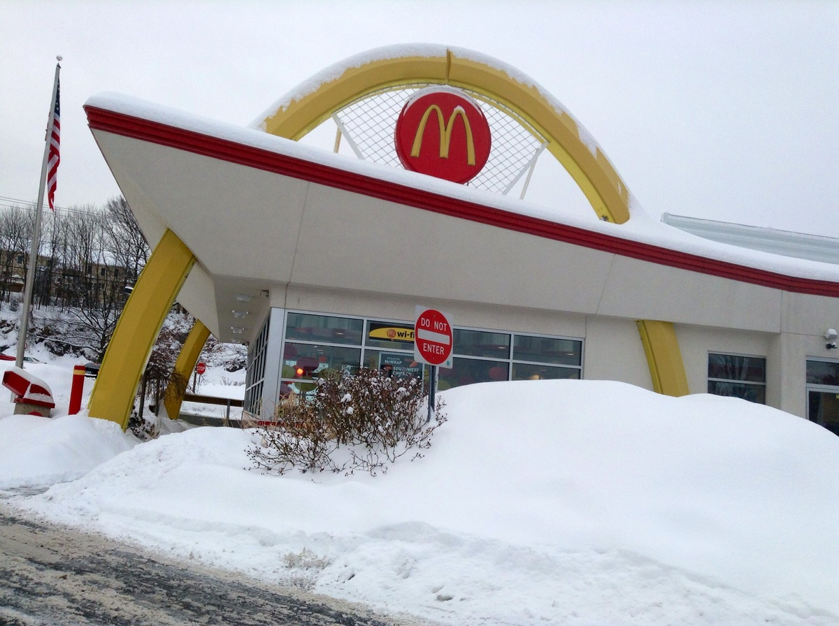 Company: McDonald's Year released: 1996 Revenue year released: $9.8 billion  The Arch Deluxe was a quarter-pound burger McDon