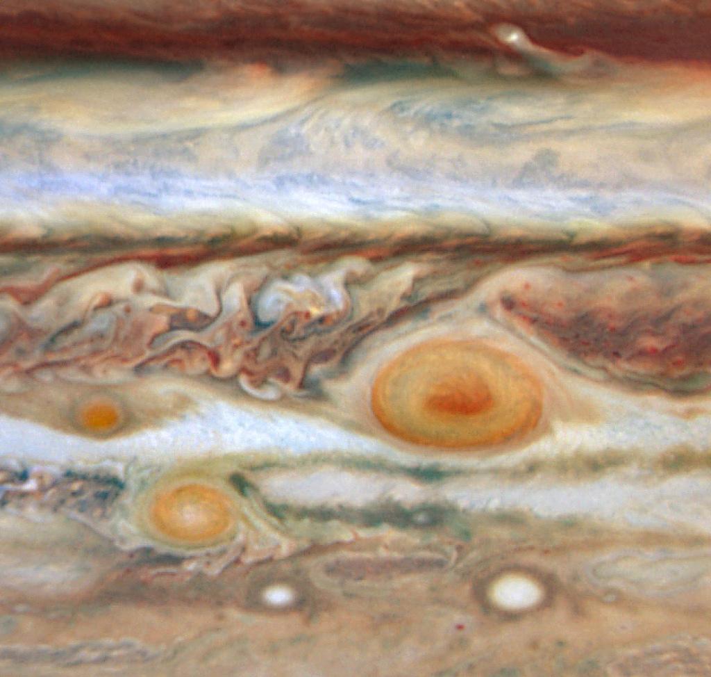 New red spot appears on Jupiter.