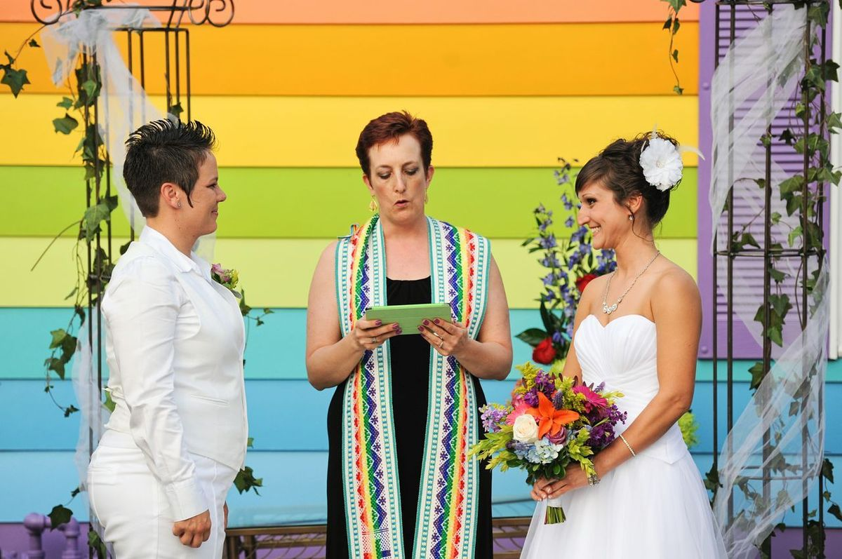 """Last June, Kimberly Kidwell <a href=""""http://www.huffingtonpost.com/2013/06/23/equality-house-wedding_n_3486814.html"""" target="""""""