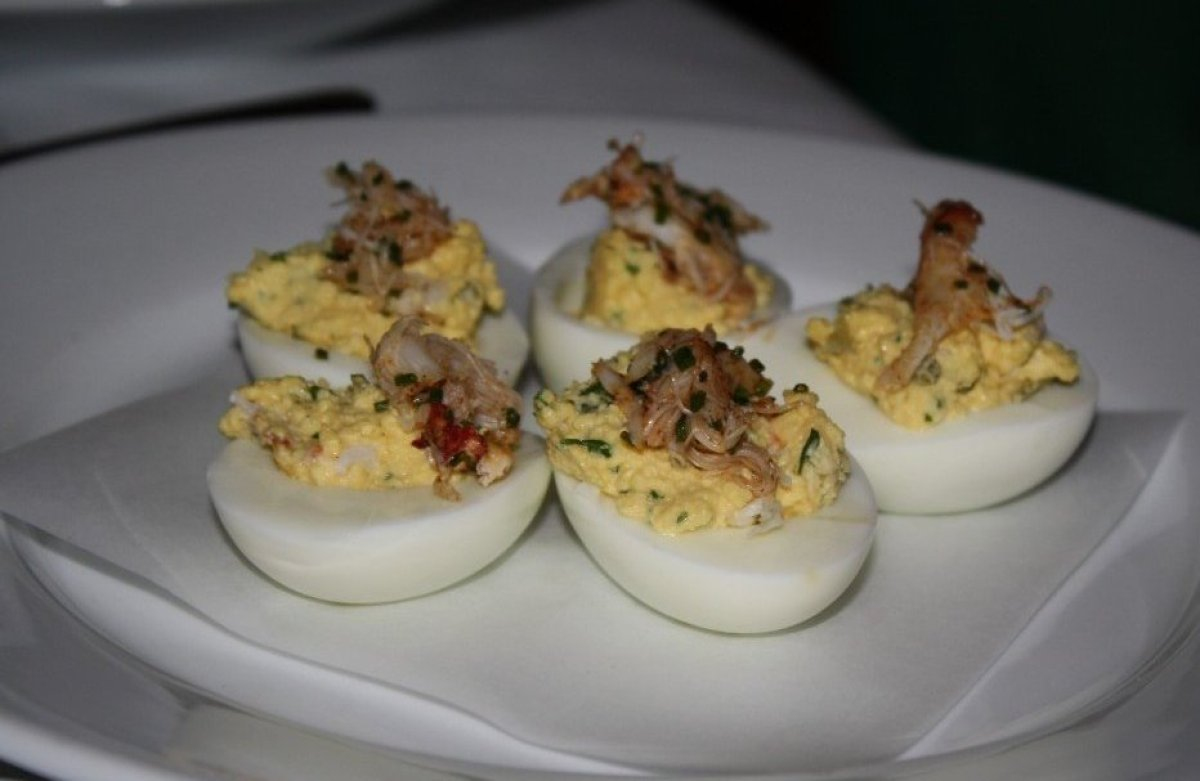 """While there are other deviled eggs in LA that incorporate seafood, <a href=""""http://www.menuism.com/restaurants/jar-los-angele"""