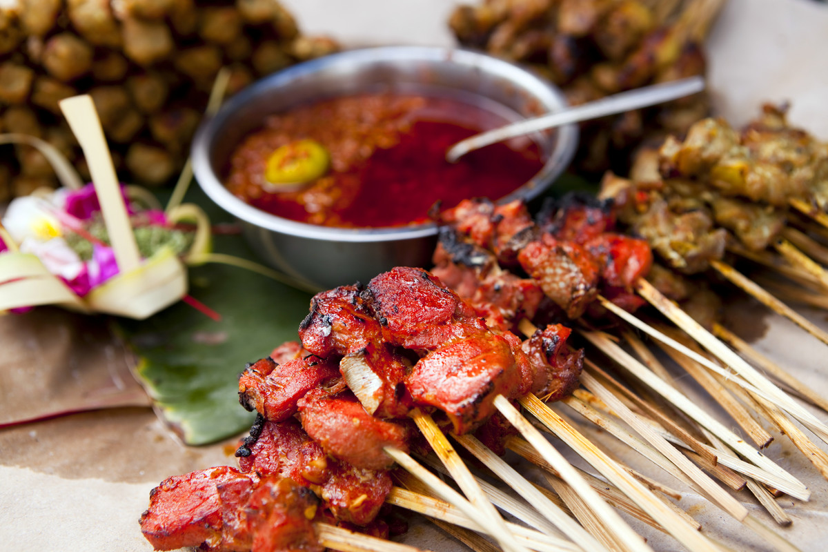 Satay is popular in <strong>Indonesia, Thailand, Malaysia, Singapore and the Philippines</strong>. Meat is marinated, skewere