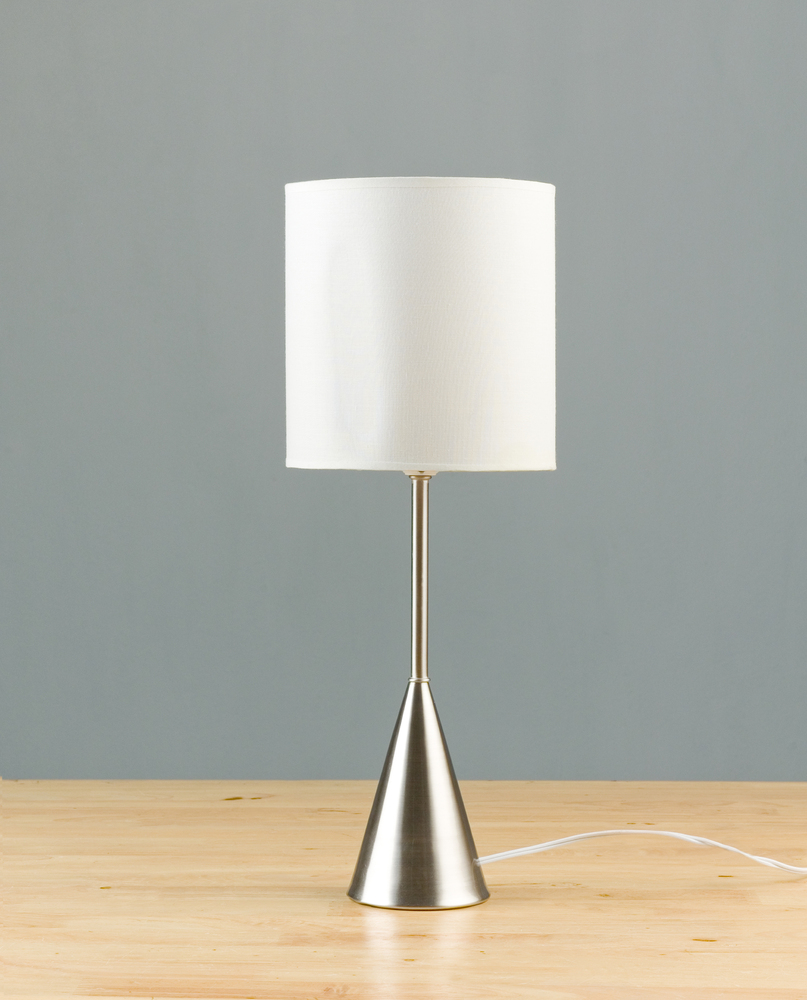 Update lampshades with new ones in more contemporary shapes or simply fresh white shades.