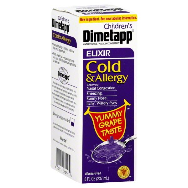 """Yummy""? You sit on a throne of lies, <a href=""http://www.amazon.com/Dimetapp-Childrens-Allergy-Elixir-Liquid/dp/B00E4MPBX6"""