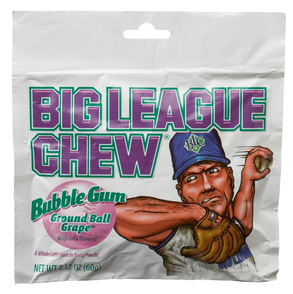 """Grape is the only thing that could make us not want <a href=""""http://www.amazon.com/Big-League-Chew-2-12-Ounce-Pouches/dp/B000"""