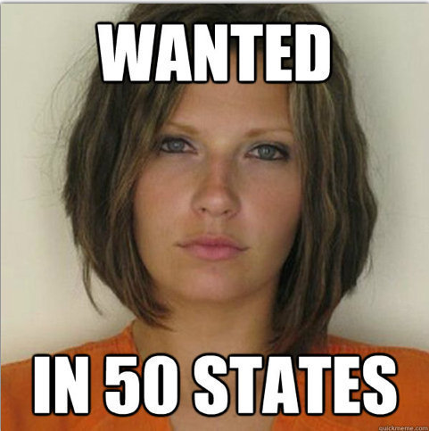 "She was arrested three years ago for reckless driving. This year, Meagan Simmons and her mugshot were <a href=""http://www.huf"