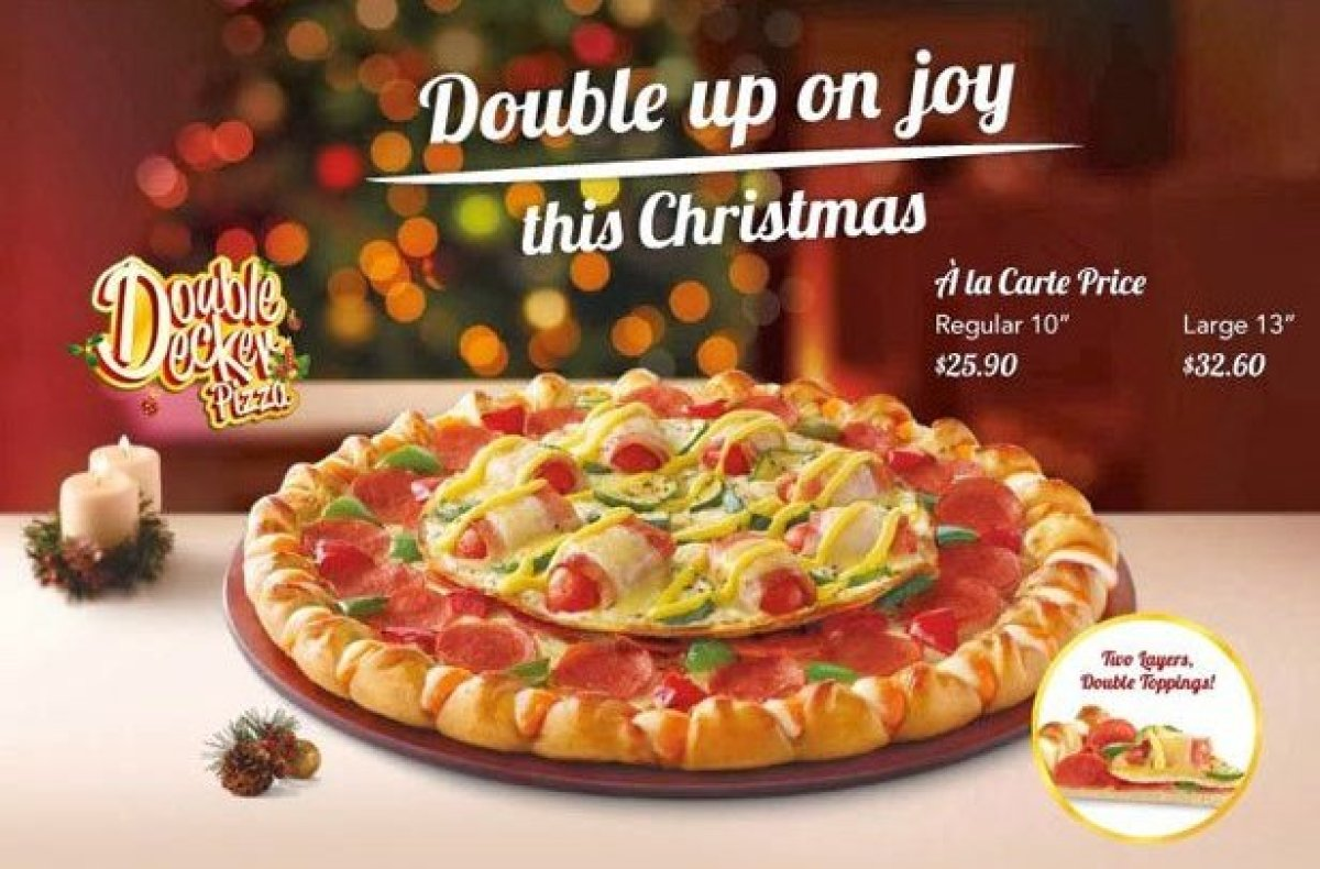 Not to be outdone by the infamous Double Sensation described earlier, Pizza Hut Singapore went even more overboard with their