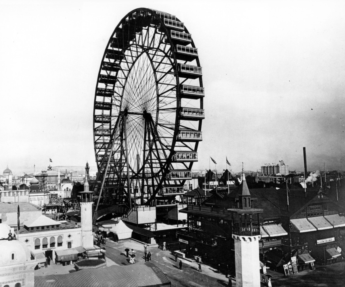 "The first Ferris wheel opens to the public at the <a href=""http://www.chicagohs.org/history/expo.html"" target=""_blank"">World'"