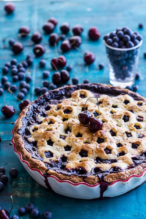 "<strong>Get the <a href=""http://www.halfbakedharvest.com/vanilla-bourbon-cherry-blueberry-pie/"" target=""_blank"">Vanilla Bourb"