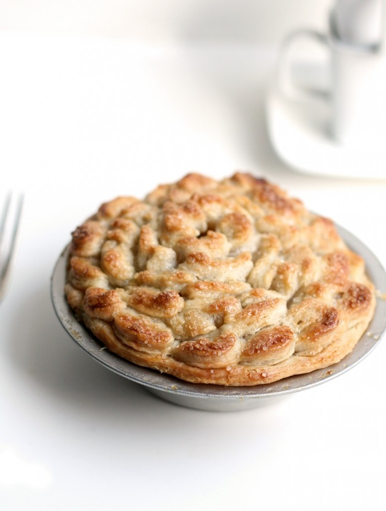 """<strong>Get the <a href=""""http://www.thefauxmartha.com/2011/11/14/apple-pie-crust-love/"""" target=""""_blank"""">Apple Pie recipe</a>"""