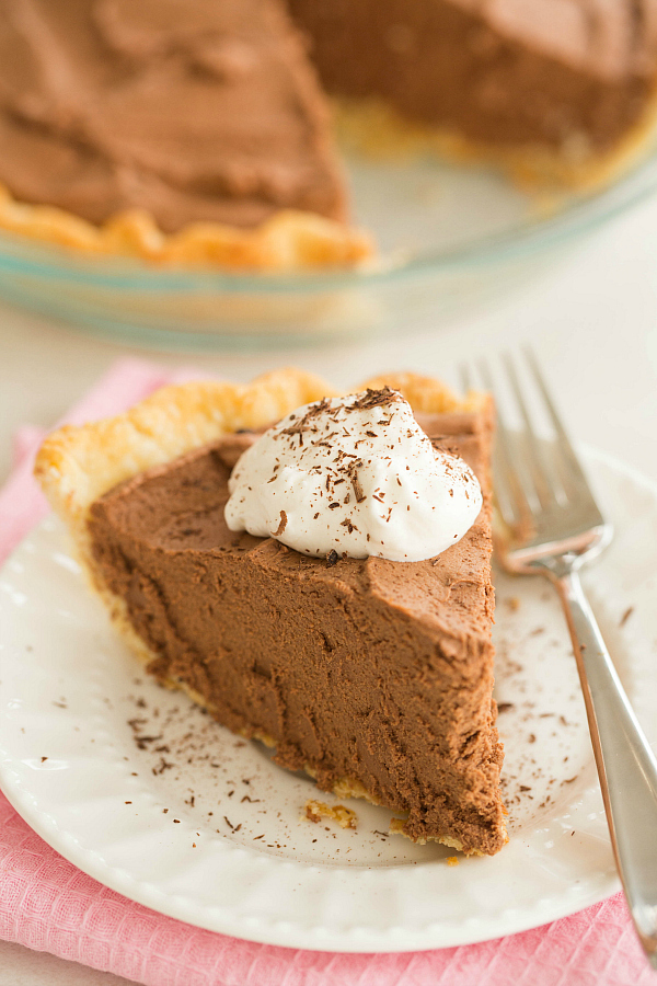 """<strong>Get the <a href=""""http://www.browneyedbaker.com/2014/02/12/french-silk-pie-recipe/"""" target=""""_blank"""">French Silk Chocol"""