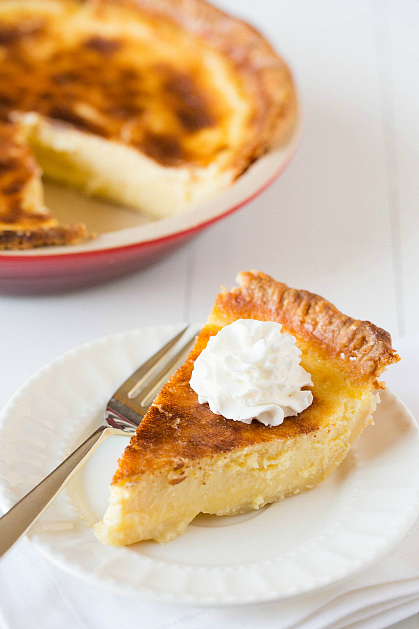 "<strong>Get the <a href=""http://www.browneyedbaker.com/2013/04/24/buttermilk-pie-recipe/"" target=""_blank"">Buttermilk Pie reci"