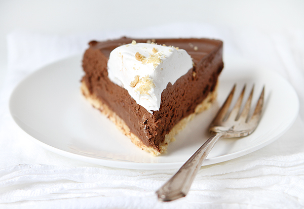 "<strong>Get the <a href=""http://iambaker.net/rich-chocolate-truffle-pie/"" target=""_blank"">Rich Chocolate Truffle Pie recipe</"