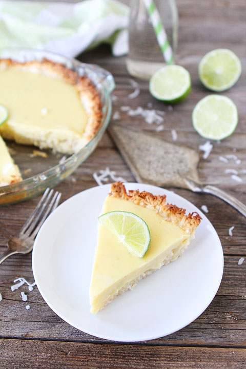 """<strong>Get the <a href=""""http://www.twopeasandtheirpod.com/key-lime-pie-with-coconut-macaroon-crust/"""" target=""""_blank"""">Key Lim"""