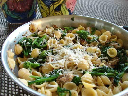 """<strong>Get the <a href=""""http://food52.com/recipes/17671-orecchiete-with-broccoli-rabe-and-sausage"""" target=""""_blank"""">Orecchiet"""