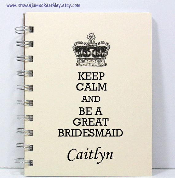 If your bridesmaids are always making to-do lists or love to write, these personalized budget-friendly notebooks will keep th