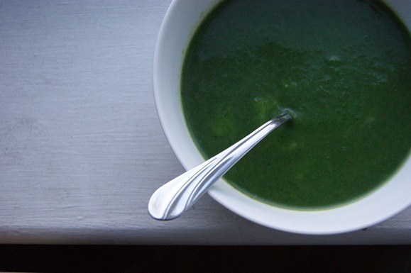 """<strong>Get the <a href=""""http://food52.com/recipes/11495-nettle-and-green-garlic-soup"""" target=""""_blank"""">Nettle and Green Garli"""