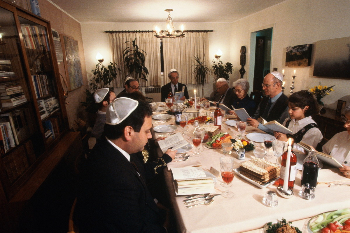 The Passover seder is a traditional Jewish meal, celebrating the ancient Jews' freedom from slavery in Egypt. Families gather