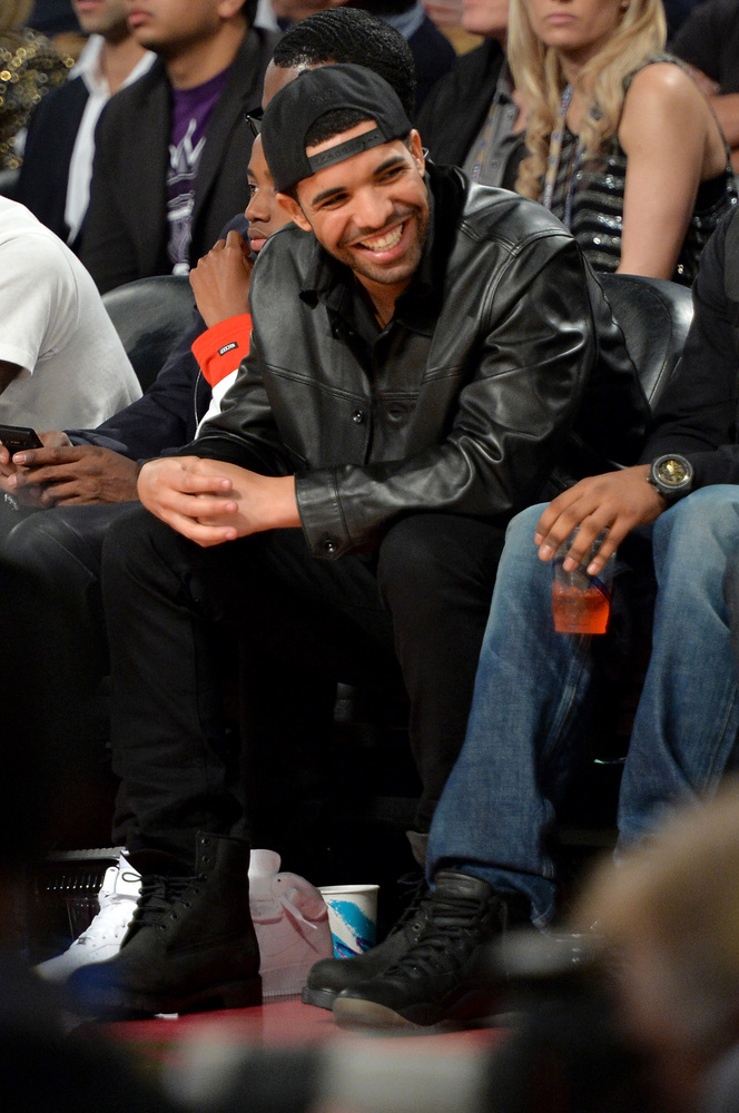 NEW ORLEANS, LA - FEBRUARY 16:  Rapper Drake attends the 63rd NBA All-Star Game 2014  at the Smoothie King Center on February