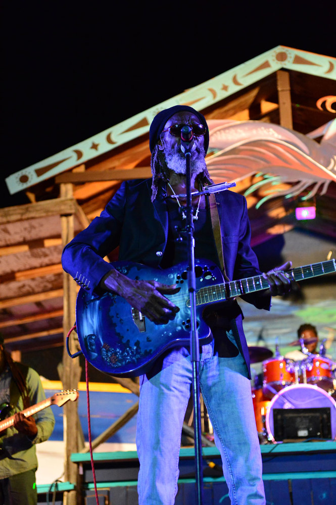 Moonsplash founder Bankie Banx performs at the 24th Annual Moonsplash Caribbean Music Festival.