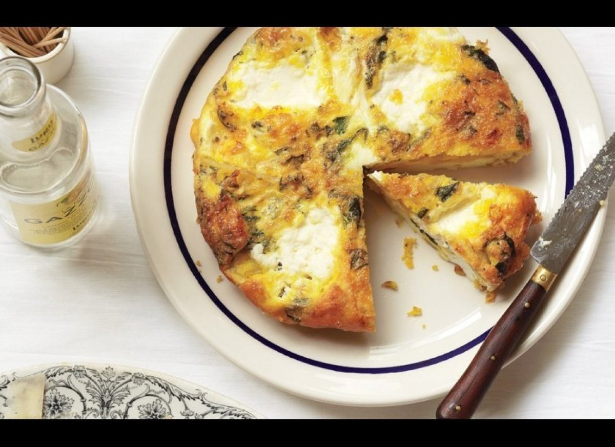 """""""When you're hungry, nothing is as satisfying as leftover frittata. Eggs, potato, and peppers are now compressed and at the p"""