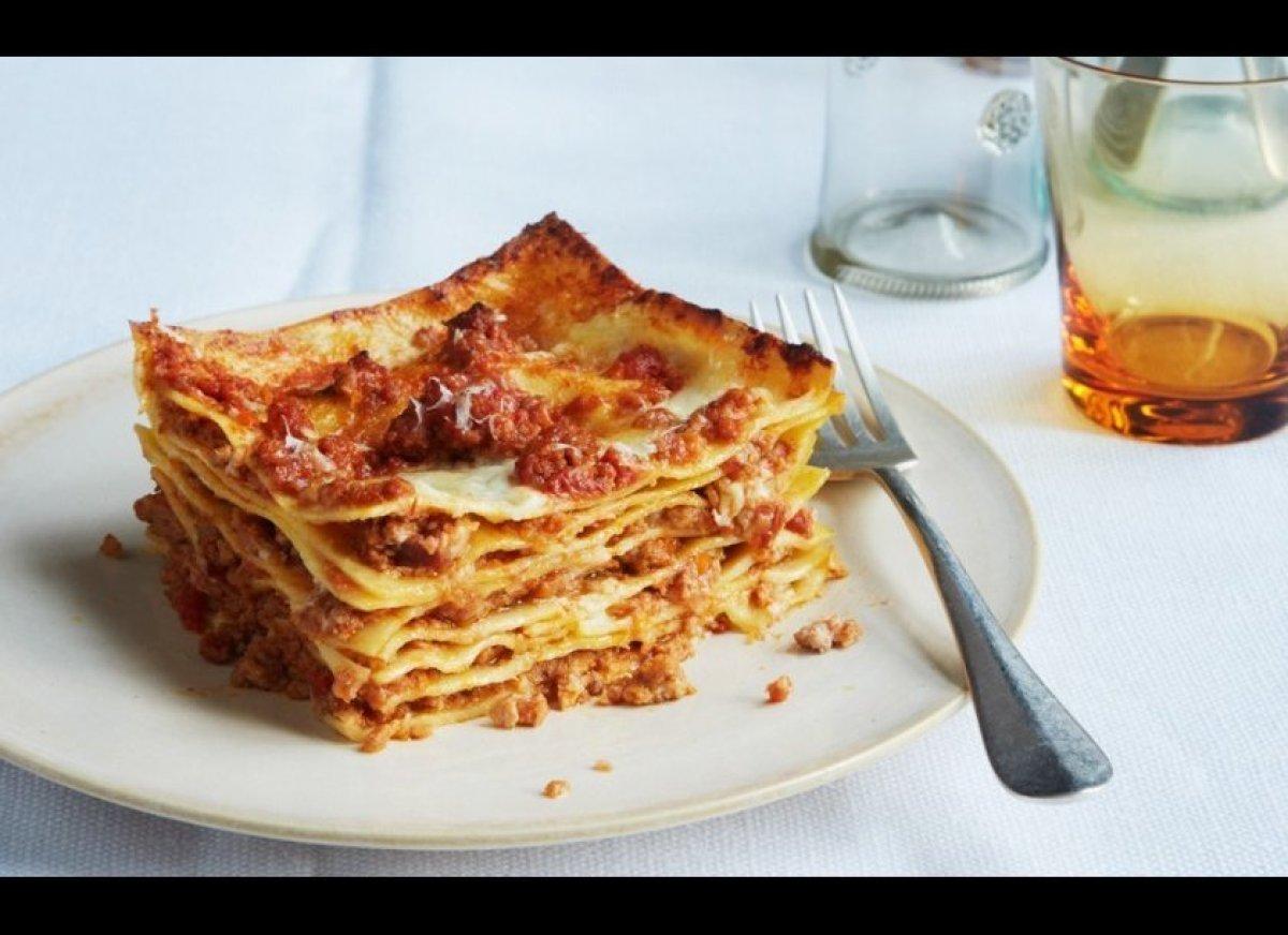 """Lasagna, eaten spoonful by spoonful straight from the pan in the fridge.""  <em>—Matt Gross, editor, BonAppetit.com</em>"