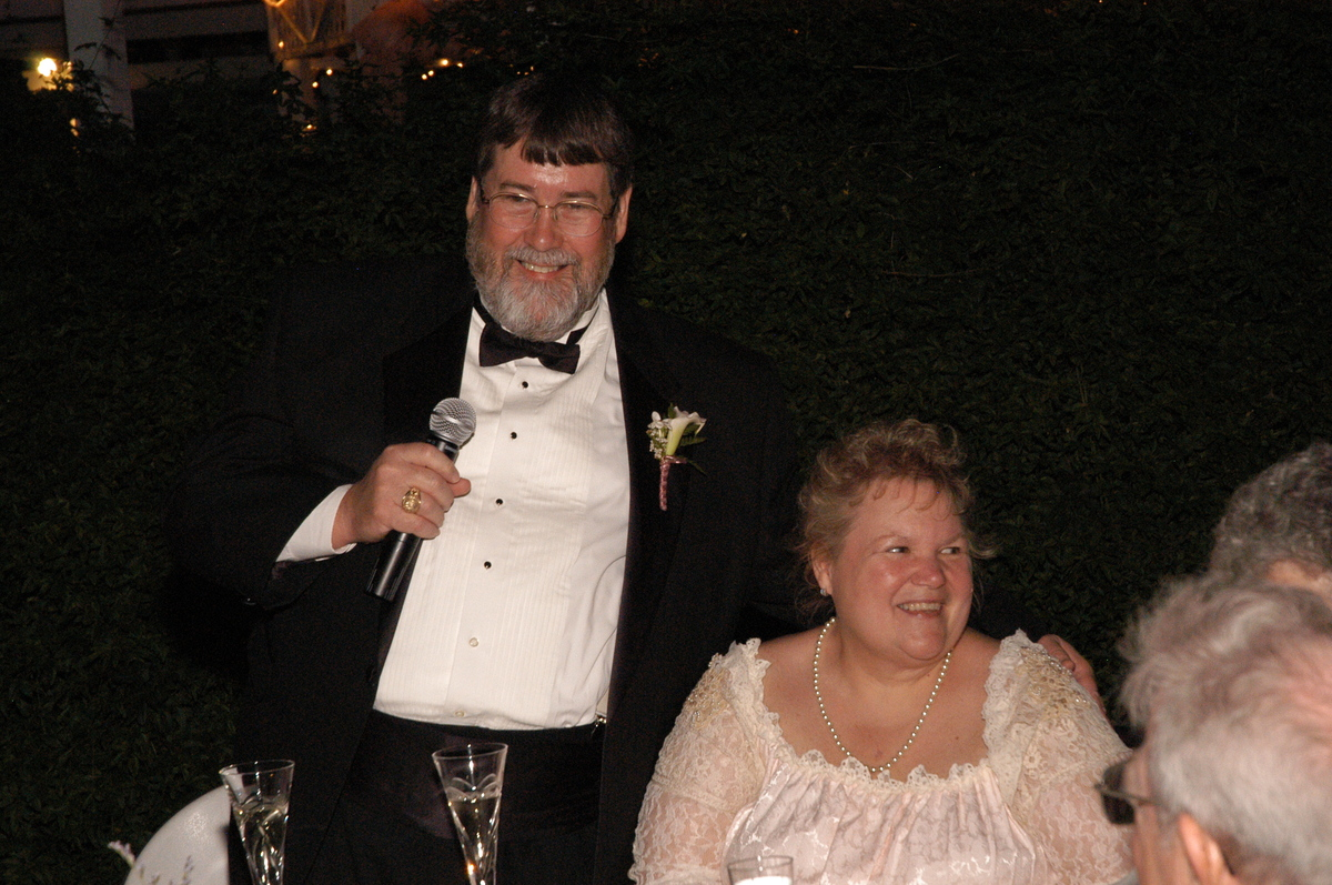 Dawn Brooks with her husband on their wedding day. The couple later split up after Brooks lost 165 pounds.