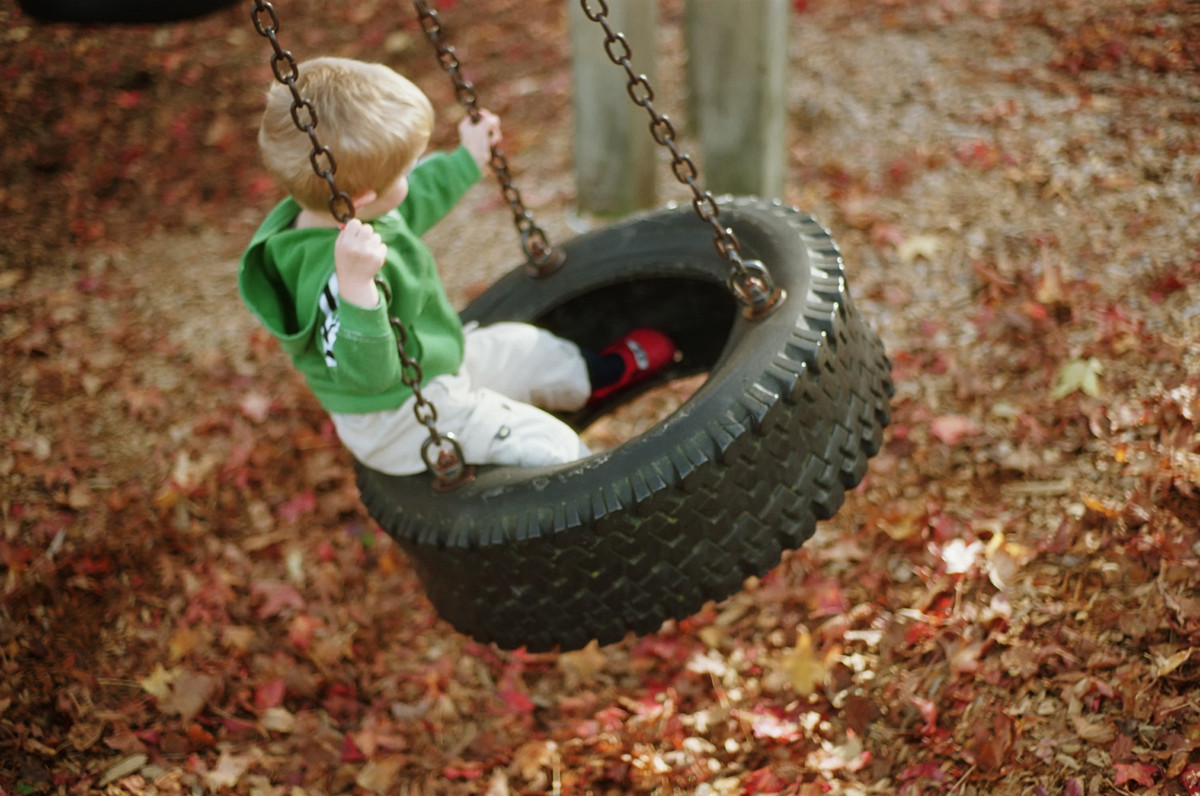 With all the fancy playground toys and amusement park games, the quintessential tire-and-rope has become sadly overlooked as