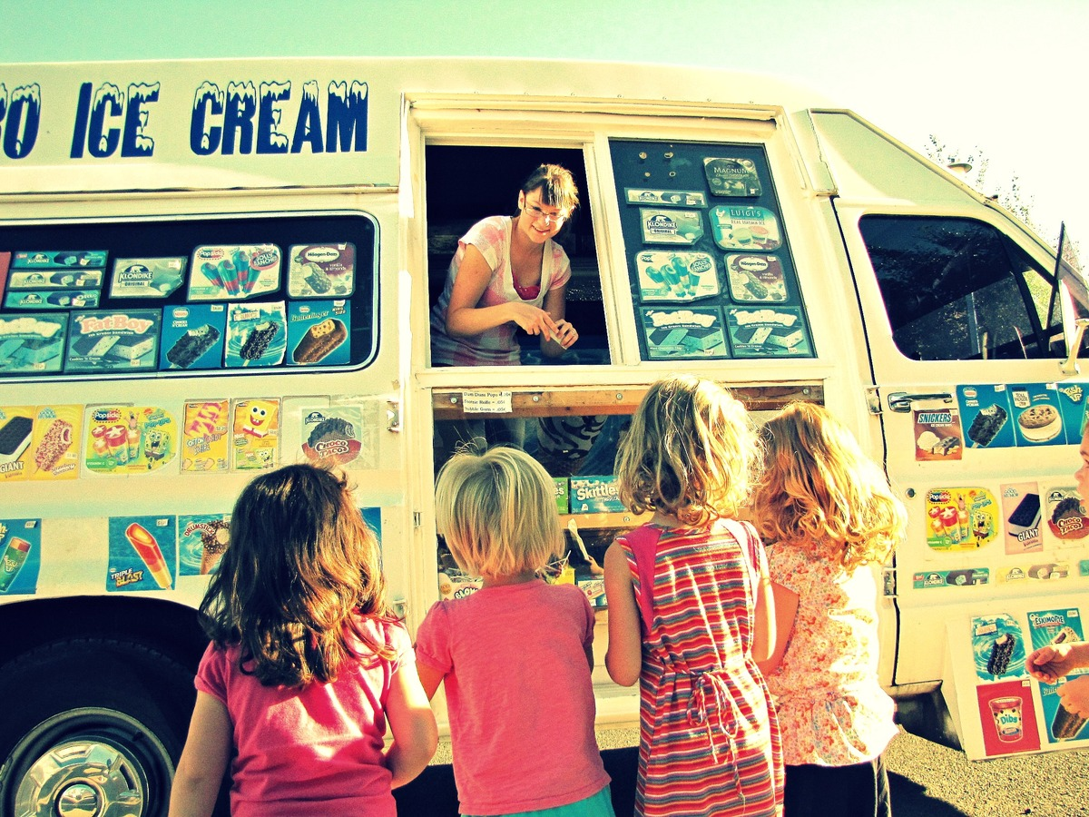 Of course, ice cream trucks are still around. In fact, food trucks are The Next Big Thing. But long, hot afternoons combined