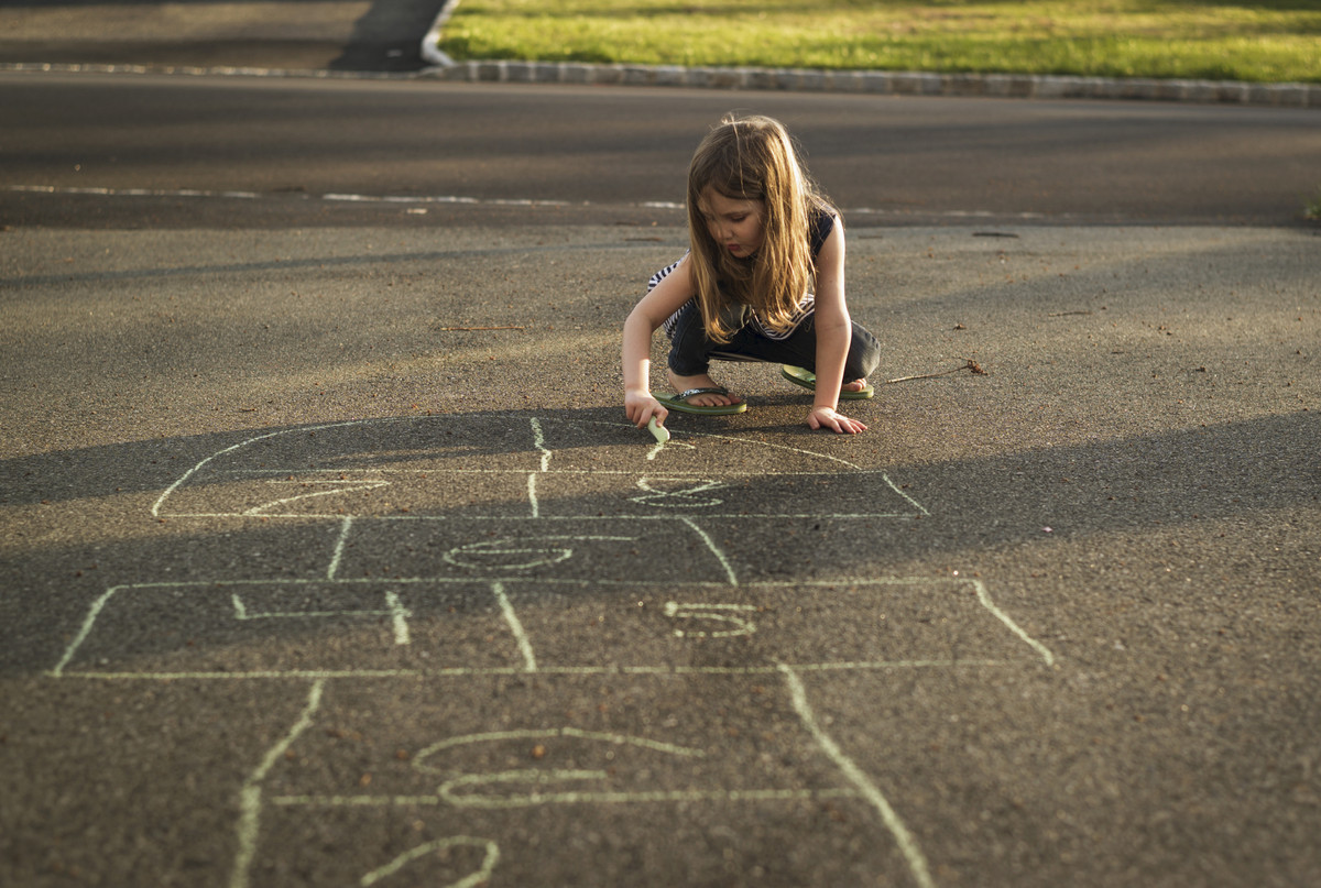 Some could argue that kids still play hopscotch. But admit it, your neighborhood sidewalks have been MUCH less colorful in th