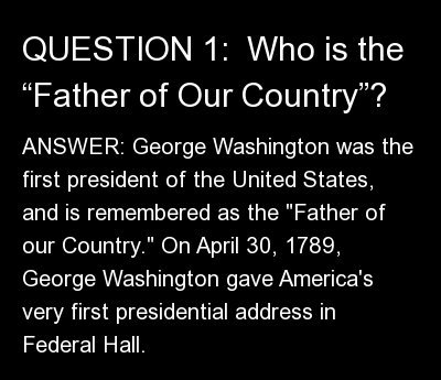 "ANSWER: <strong>George Washington</strong> was the first president of the United States, and is remembered as the ""Father of"