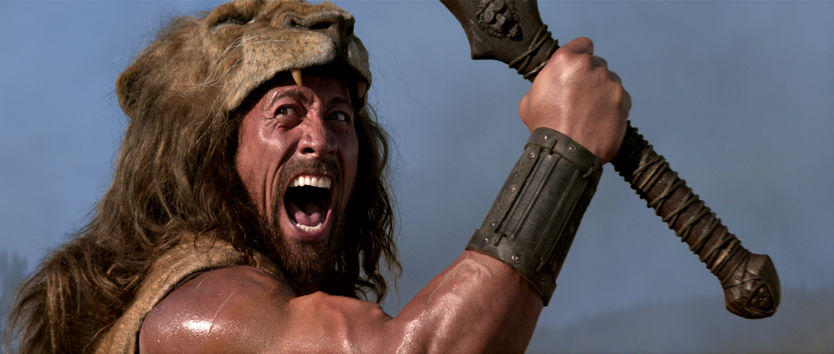 "Dwayne ""The Rock"" Johnson stars as Hercules in Brett Ratner's latest film. That's a dead lion on his head, fyi."