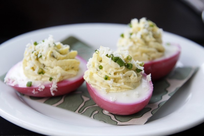 """<strong>Get the <a href=""""http://www.bellalimento.com/2012/07/26/beet-pickled-eggs-for-1000-cooks-for-the-cure/"""" target=""""_blan"""