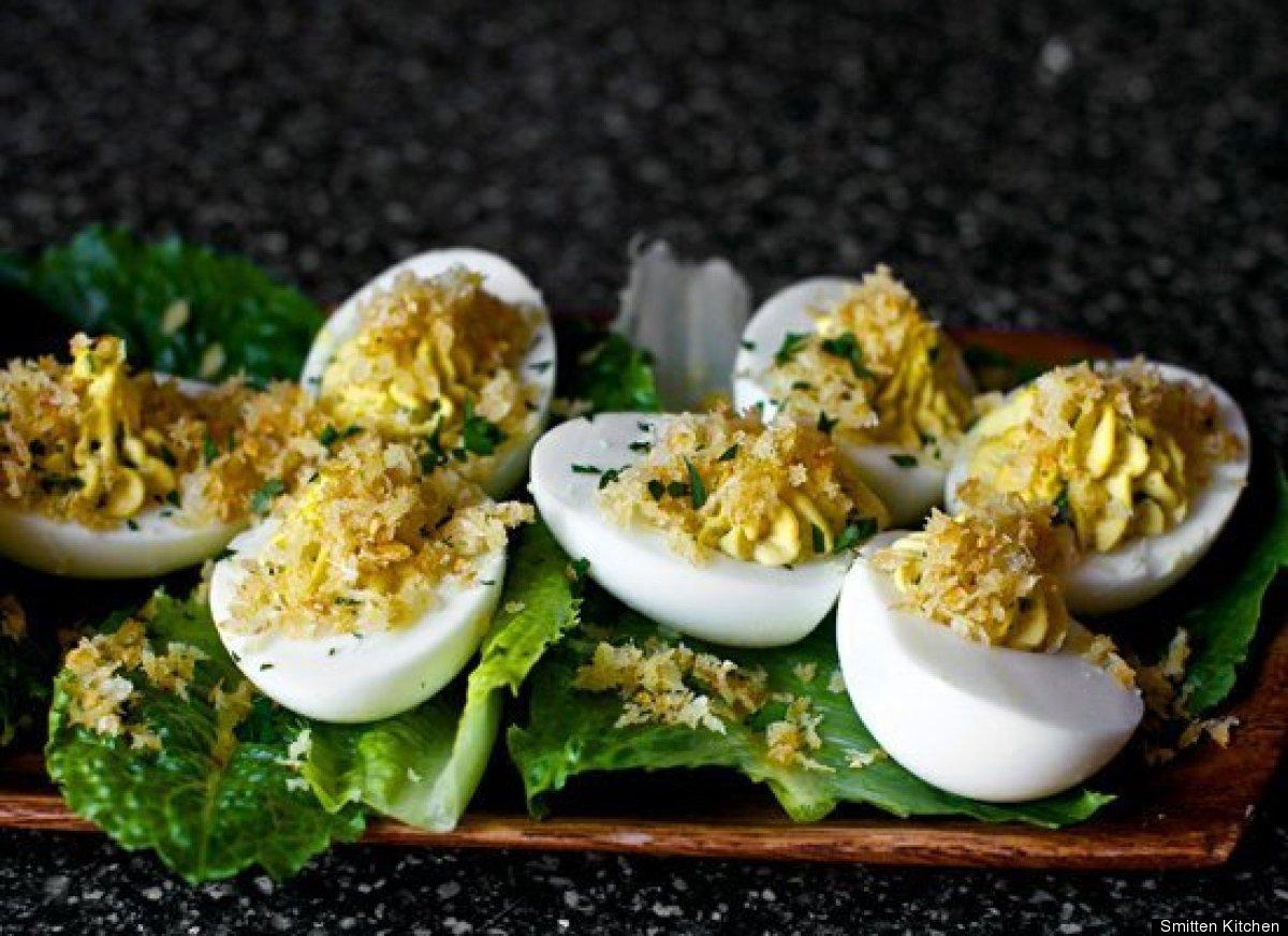 "<strong>Get the <a href=""http://smittenkitchen.com/2011/12/caesar-salad-deviled-eggs/"" target=""_hplink"">Caesar Salad Deviled"
