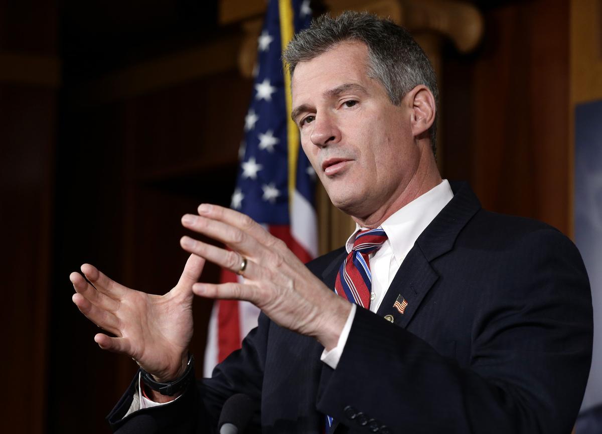 """Bqhatevwr"" - Former Sen. Scott Brown (R-Mass.) (<a href=""http://www.dailykos.com/story/2013/01/28/1182786/-Scott-Brown-Bqhat"
