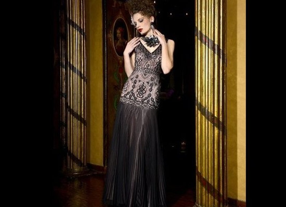 Patterned Lace Overlay Embroidered Gown (photo courtesy of Sue Wong)