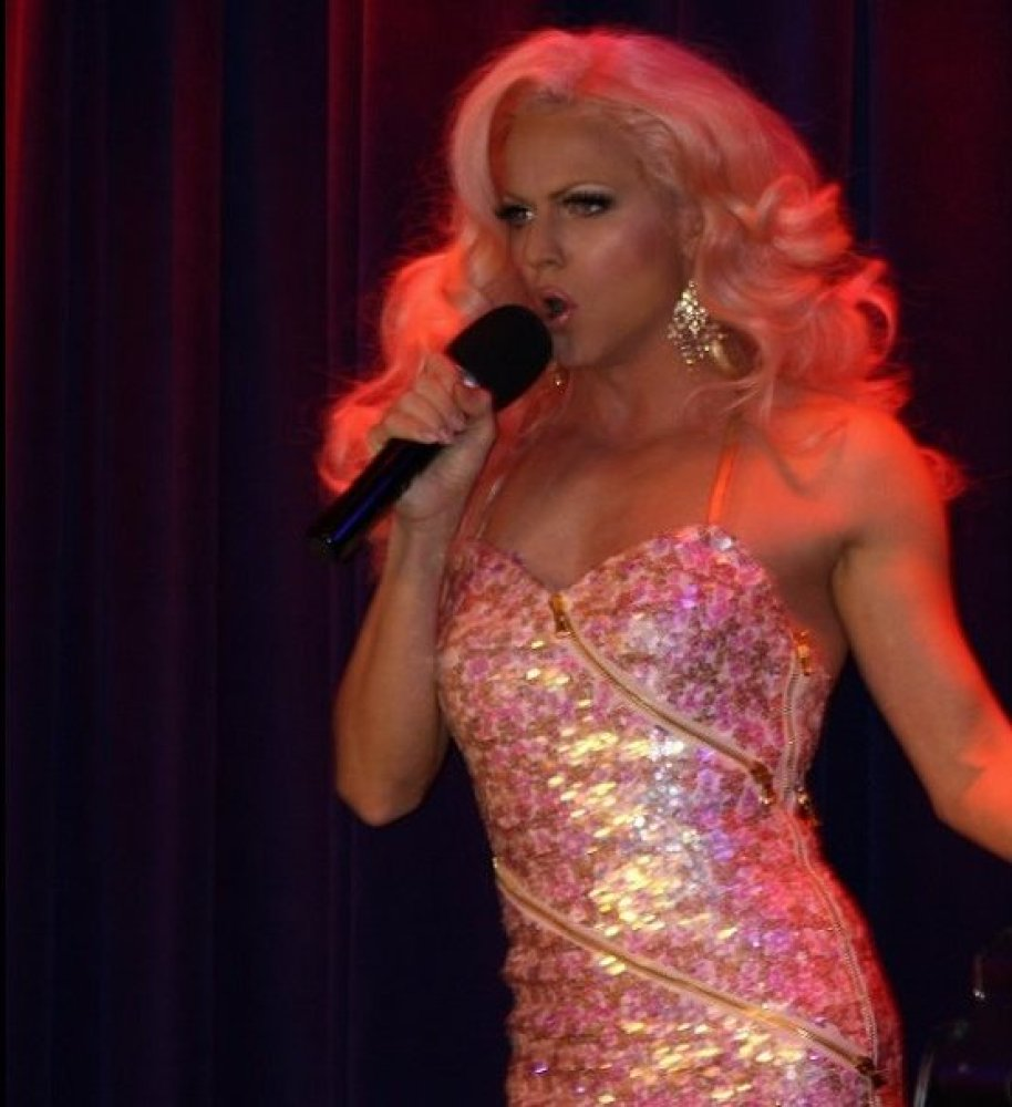 Courtney Act gives the sold out crowd what they came for! Beechman Theatre, NYC 3/29/14