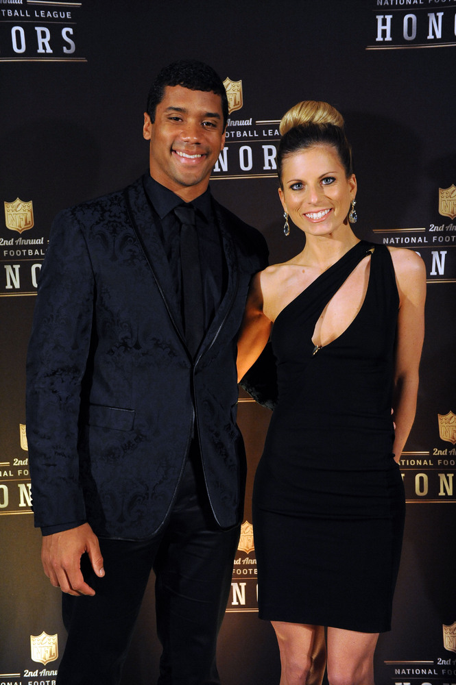 Seattle Seahawks quarterback Russell Wilson and his wife Ashton.