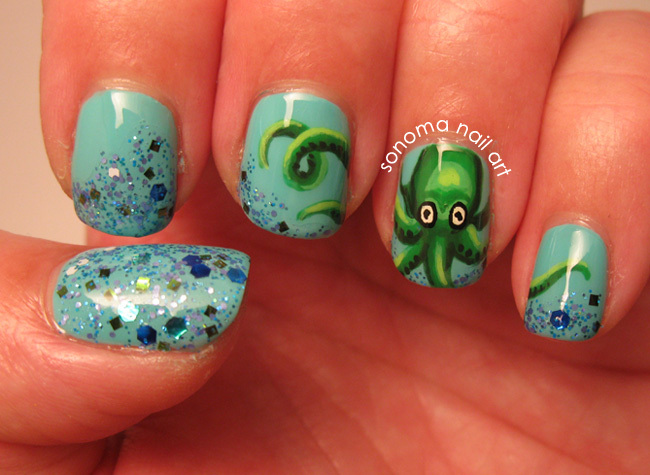 Tropical nail art sunsets sea turtles and sandy beaches photos sonoma nail art prinsesfo Gallery