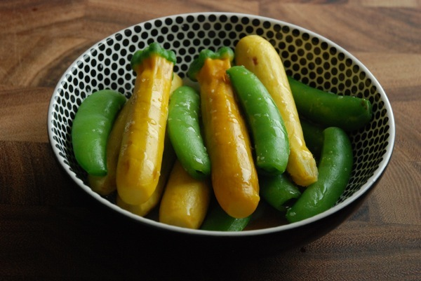 """<strong>Get the <a href=""""http://food52.com/recipes/12985-zucchini-and-snap-peas-with-sesame-oil-and-salt"""" target=""""_blank"""">Zuc"""