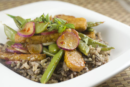 """<strong>Get the <a href=""""http://www.macheesmo.com/2012/06/spicy-radish-toss/"""" target=""""_blank"""">Spicy Radish Toss recipe</a> by"""