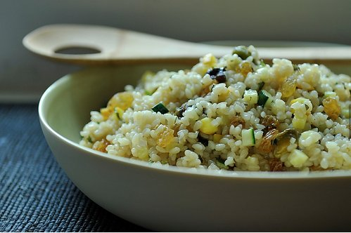 """<strong>Get the <a href=""""http://food52.com/recipes/5425-summer-squash-couscous-with-sultanas-pistachios-and-mint"""" target=""""_bl"""