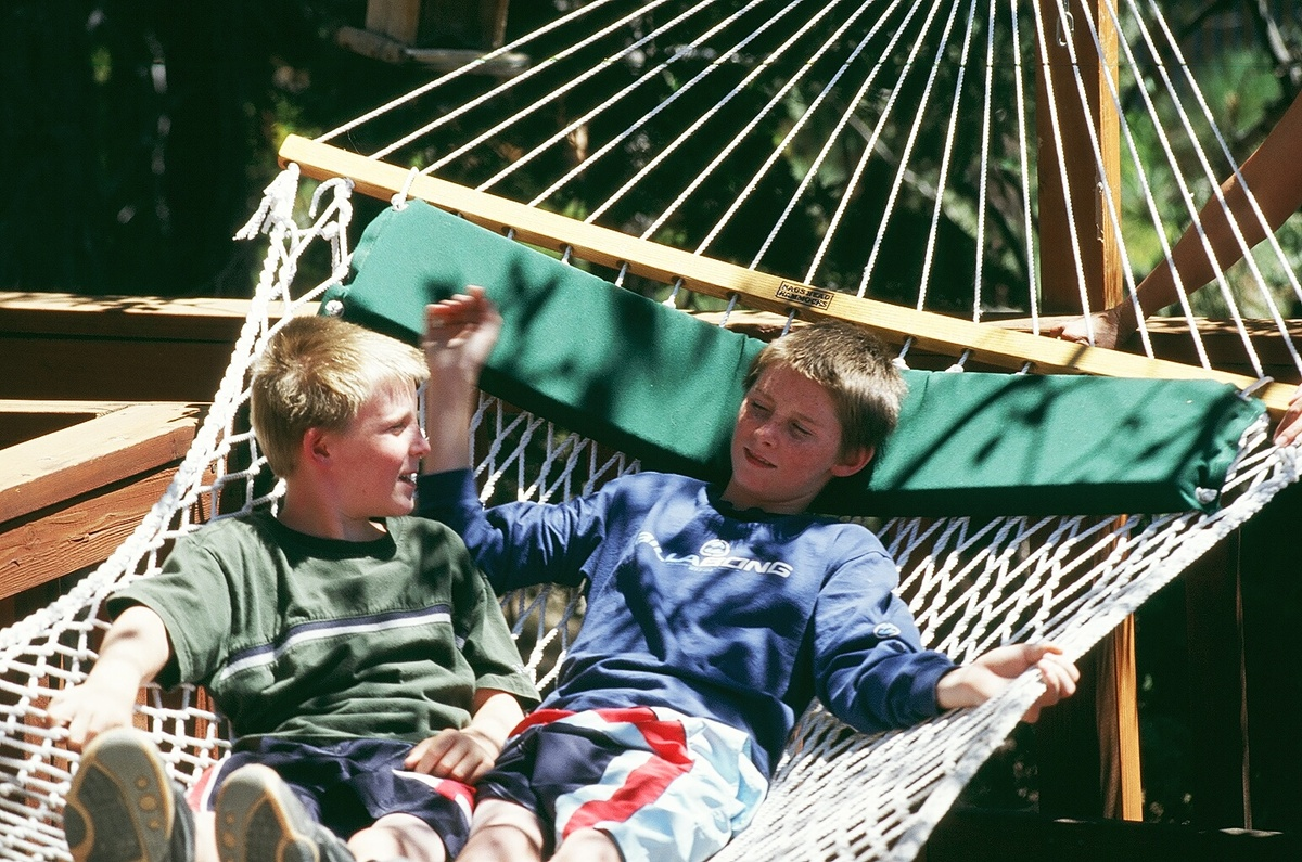John and his brother Dereck were able to relax in their new home.