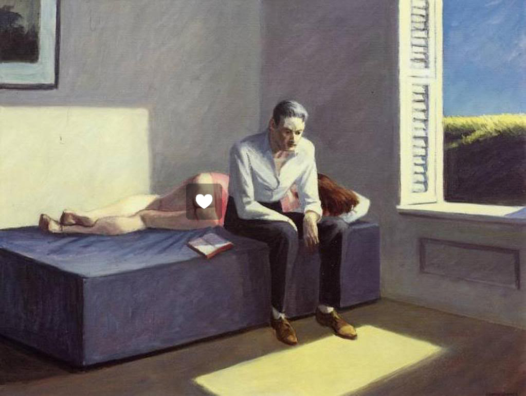Artist Inserts Social Media Icons Into Edward Hopper Paintings (Nastya Nudnik)
