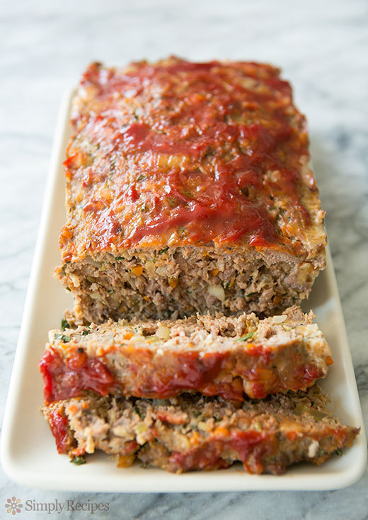 """<strong>Get the <a href=""""http://www.simplyrecipes.com/recipes/classic_meatloaf/"""" target=""""_blank"""">Classic Meatloaf</a> recipe"""