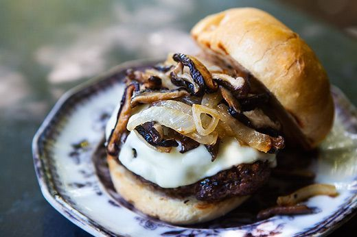 """<strong>Get the <a href=""""http://www.simplyrecipes.com/recipes/grilled_beef_and_mushroom_burger/"""" target=""""_blank"""">Grilled Beef"""