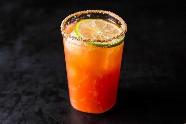 """<strong>Get the <a href=""""http://food52.com/recipes/420-michelada-aka-bloody-beer"""" target=""""_blank"""">Michelada (aka Bloody Beer)"""