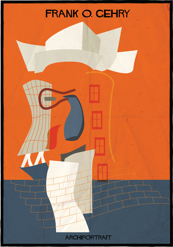 Portraits Of Architects, Drawn In The Styles Of Their Most Famous ...