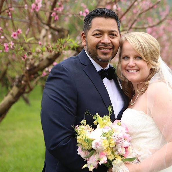 """""""My favorite photo from my wedding on 3/29 at Full Belly Farm in Guinda, California."""" - Diego and Hallie Ochoa"""